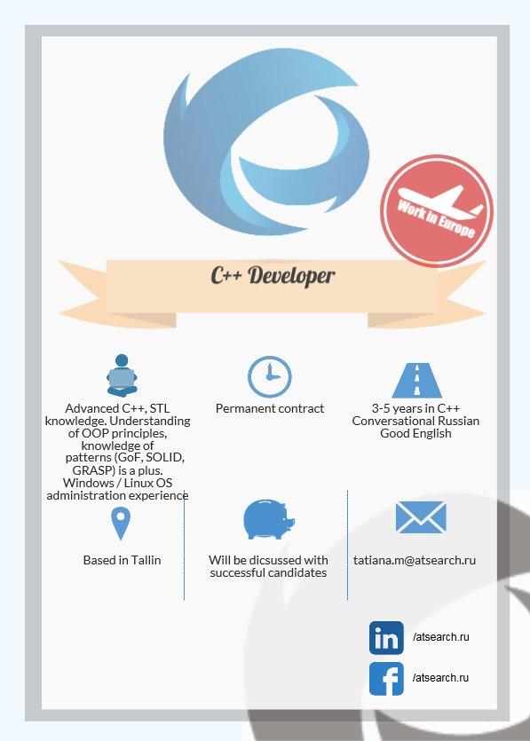 C++ Developer _ Tallinn